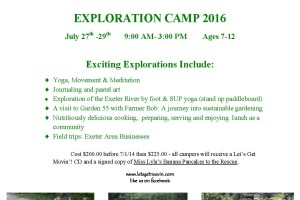 2016 camp flyer Exploration Camp